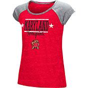 Colosseum Girls' Maryland Terrapins Red Sprint T-Shirt