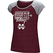 Colosseum Youth Girls' Mississippi State Bulldogs Maroon Sprint T-Shirt