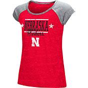Colosseum Girls' Nebraska Cornhuskers Red Sprint T-Shirt