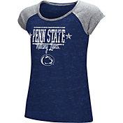 Colosseum Girls' Penn State Nittany Lions Blue Sprint T-Shirt
