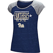Colosseum Youth Girls' Pitt Panthers Blue Sprint T-Shirt