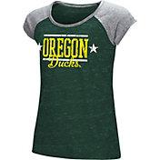 Colosseum Girls' Oregon Ducks Green Sprint T-Shirt