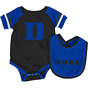 Colosseum Athletics Infant Duke Blue Devils Duke Blue Roll-Out Onsie And Bib Set