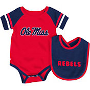 Colosseum Athletics Infant Ole Miss Rebels Blue Roll-Out Onsie And Bib Set