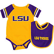 Colosseum Athletics Infant LSU Tigers Purple Roll-Out Onsie And Bib Set