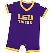 Colosseum Athletics Infant LSU Tigers Purple Runback Onsie