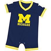 Colosseum Athletics Infant Michigan Wolverines Blue Runback Onsie
