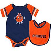 Colosseum Athletics Infant Syracuse Orange Orange Roll-Out Onsie And Bib Set