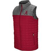 Colosseum Men's Alabama Crimson Tide Crimson/Grey Amplitude Puff Vest