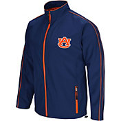 Colosseum Men's Auburn Tigers Blue Barrier Full Zip Wind Jacket