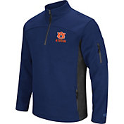 Colosseum Men's Auburn Tigers Blue Advantage Quarter-Zip Jacket