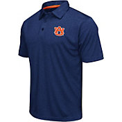Colosseum Men's Auburn Tigers Blue Performance Polo