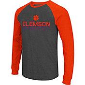 Colosseum Men's Clemson Tigers Grey Olympus II Long Sleeve Shirt