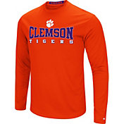Colosseum Women's Clemson Tigers Orange Streamer Long Sleeve T-Shirt