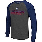 Colosseum Men's UConn Huskies Grey Olympus II Long Sleeve Shirt