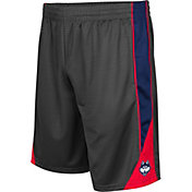 Colosseum Men's Connecticut Huskies Grey Turn Over Shorts