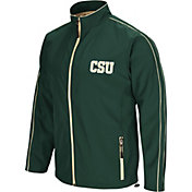 Colosseum Men's Colorado State Rams Green Barrier Full Zip Wind Jacket