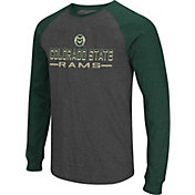 Colosseum Men's Colorado State Rams Grey Olympus II Long Sleeve Shirt