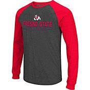 Colosseum Men's Fresno State Bulldogs Grey Olympus II Long Sleeve Shirt
