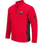 Colosseum Men's Georgia Bulldogs Red Advantage Quarter-Zip Jacket
