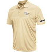 Colosseum Athletics Men's Georgia Tech Yellow Jackets Gold Performance Polo