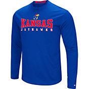 Colosseum Women's Kansas Jayhawks Blue Streamer Long Sleeve T-Shirt