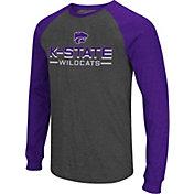 Colosseum Men's Kansas State Wildcats Grey Olympus II Long Sleeve Shirt