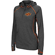 Colosseum Women's Oklahoma State Cowboys Charcoal Capo Ferro Quarter-Zip Hooded Windshirt