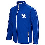 Colosseum Men's Kentucky Wildcats Blue Barrier Full Zip Wind Jacket