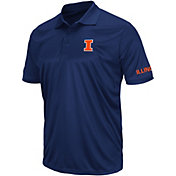 Colosseum Athletics Men's Illinois Fighting Illini Blue Performance Polo