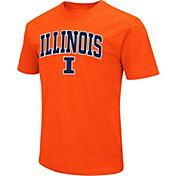 Colosseum Men's Illinois Fighting Illini Orange Dual Blend T-Shirt