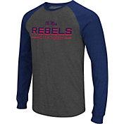 Colosseum Men's Ole Miss Rebels Grey Olympus II Long Sleeve Shirt