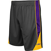 Colosseum Men's LSU Tigers Grey Turn Over Shorts
