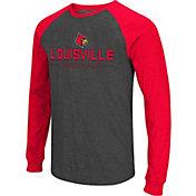 Colosseum Men's Louisville Cardinals Grey Olympus II Long Sleeve Shirt