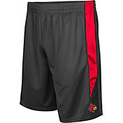 Colosseum Men's Louisville Cardinals Grey Turn Over Shorts