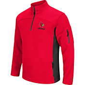 Colosseum Men's Louisville Cardinals Cardinal Red Advantage Quarter-Zip Jacket