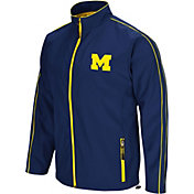 Colosseum Men's Michigan Wolverines Blue Barrier Full Zip Wind Jacket