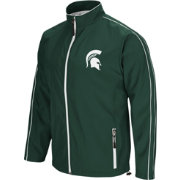 Colosseum Men's Michigan State Spartans Green Barrier Full Zip Wind Jacket