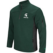Colosseum Men's Michigan State Spartans Green Advantage Quarter-Zip Jacket
