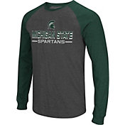 Colosseum Men's Michigan State Spartans Grey Olympus II Long Sleeve Shirt