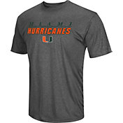 Colosseum Men's Miami Hurricanes Grey Matrix T-Shirt