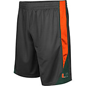 Colosseum Men's Miami Hurricanes Grey Turn Over Shorts