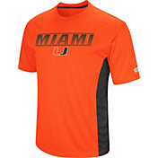 Colosseum Men's Miami Hurricanes Orange Beamer T-Shirt