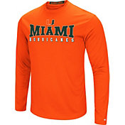 Colosseum Women's Miami Hurricanes Orange Streamer Long Sleeve T-Shirt