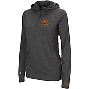 Colosseum Women's Minnesota Golden Gophers Charcoal Capo Ferro Quarter-Zip Hooded Windshirt