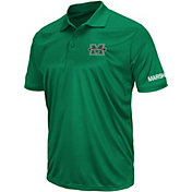 Colosseum Athletics Men's Marshall Thundering Herd Green Performance Polo