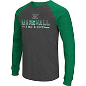 Colosseum Men's Marshall Thundering Herd Grey Olympus II Long Sleeve Shirt