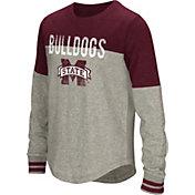 Colosseum Youth Girls' Mississippi State Bulldogs Grey Baton Long Sleeve Shirt
