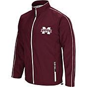 Colosseum Men's Mississippi State Bulldogs Maroon Barrier Full Zip Wind Jacket