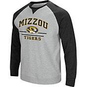 Colosseum Men's Missouri Tigers Grey Turf Fleece Crew Neck Sweatshirt
